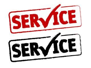 Service Stempel abdruck