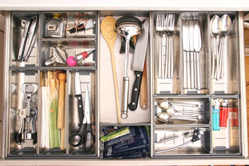 kitchen utensils drawer