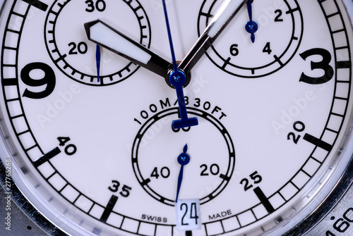 dial  wristwatches in closeup