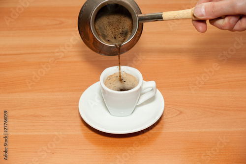 Coffee pour in a cup