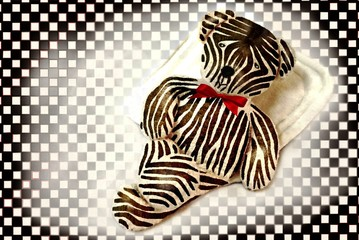 Teddy als Zebra
