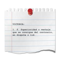 Recorte de papel texto VICTORIA