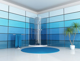 Fototapety blue bathroom