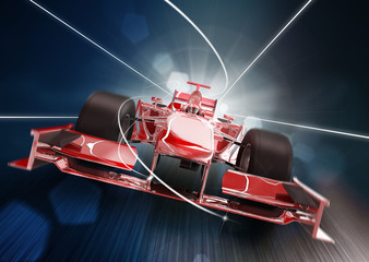 3d render, formula one car concept
