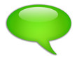 Speech bubble shiny icon
