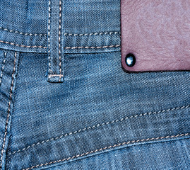 shabby jeans pocket