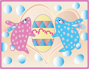 Two Easter rabbits