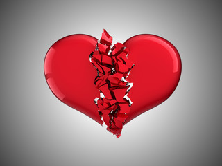 Divorce and love. Broken Heart