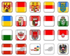 Buttons - Bundesländer Österreichs
