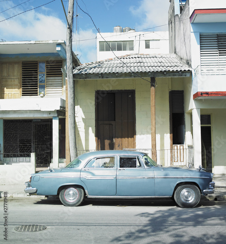 old car in Guantánamo''s street, Cuba