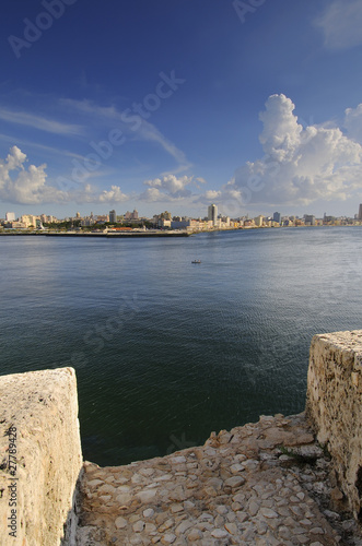 View of Havana city bay entrance