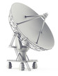 3d sattelite antena on the white