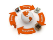 global Business flow, business marketing concept
