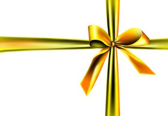 Goldener Geschenkband