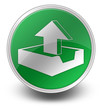 "Green Glossy Icon ""Upload"""