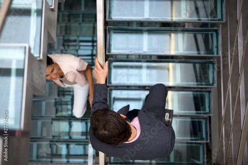 People on the stairs