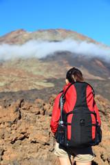 Hiking woman copyspace
