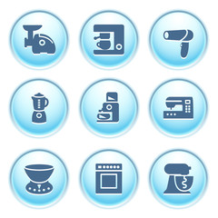 Icons on blue buttons 19