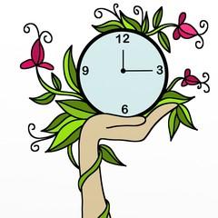 orologio con decorazione