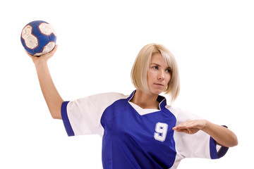 female handball player