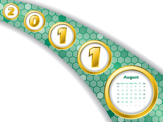 2011 august stripe calendar