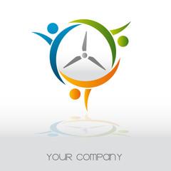 logo entreprise, éolienne, écologie