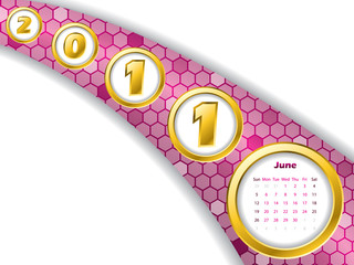 2011 june stripe calendar