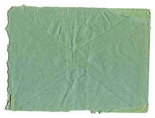 inner side of the old worn-out blue envelopes