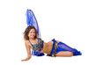 Belly dancer on the floor