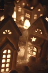 weihnachtliche deko stadthäuser