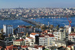 View of Istanbul, Golden Horn Bay and Ataturk Bridge