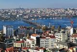View of Istanbul, Golden Horn Bay and Ataturk Bridge
