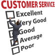 Business man customer service satisfaction form