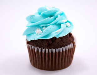 Chocolate Christmas cupcake