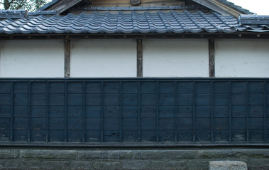 traditional wall and roof of Japanese-style house