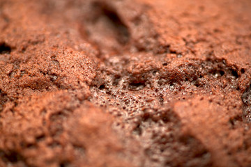 Close up of chocolate cupcake