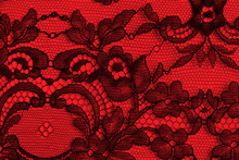 Black and red fine lace texture