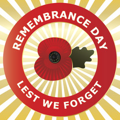 Remembrance Day - Vector background