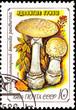 Soviet Russia Post Stamp Amanita Pantherina Panther Cap Mushroom