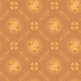 vector seamless light beige texture with rhombuses poster