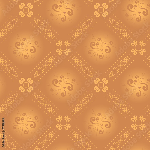 poster of vector seamless light beige texture with rhombuses