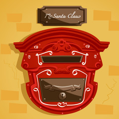 Santa's postbox  , vector illustration