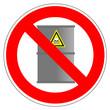 Panneau interdit aux bidons