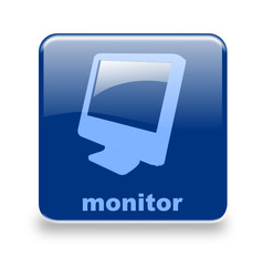 Button Monitor blau