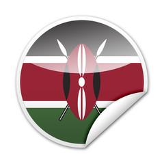 Pegatina bandera Kenia con reborde