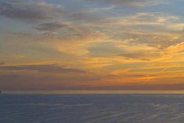 Sunset over St Brides Bay,