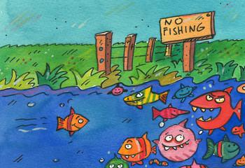 fischen verboten
