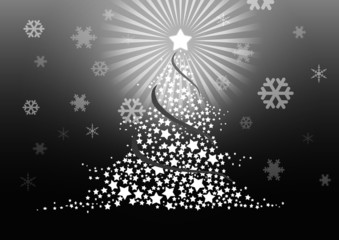 Christmas tree illustration..