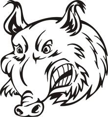 Wild boar. Mascot Templates.