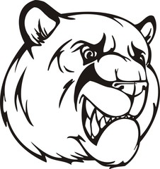 Bear . Mascot Templates.